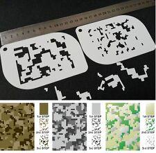 #XS Camuflaje Digital Modelo de Camo aerógrafo de plantilla Cuerpo Cara Pintura Ejército de Mylar