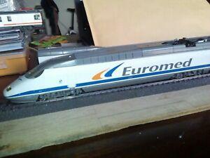 MEHANO T172. SET DE TREN EUROMED RENFE.HO.FUNCIONANDO. LUZ. MIRA FOTOS.