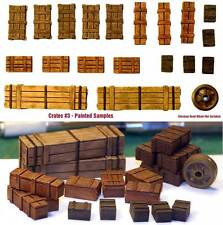 1/35 Scale resin kit Wooden Crates Set #3 Military model accessory