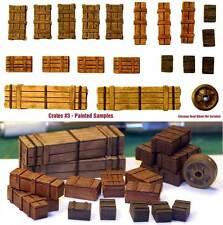1/35 Escala Kit de resina cajas de madera set #3 Militar Modelismo Accesorio
