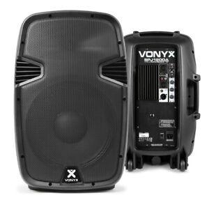 "Pair of 12"" Active Powered Speakers Mobile DJ Karaoke PA Set 1200W SSC2310"