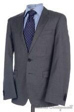 HUGO BOSS Recent Gray Striped 100% Wool Dual Vent Jacket Pants SUIT Mens - 36 R