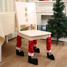 1pcs Chair Leg Foot Cover Merry Christmas Elf Santa Chair Cover Xmas Room Decor