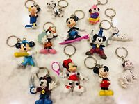 Party Favor!! Disney Mickey Mouse Minnie Key Ring Keychain Lot of 12 characters+