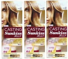 3 x LOreal Paris Casting Sunkiss Lightening Jelly 01 - Light Brown - Dark Blonde