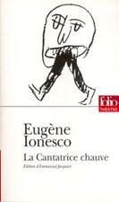 La cantatrice chauve (Folio Theatre) by Ionesco, Eugene Paperback Book The Cheap