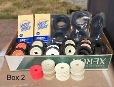 Vintage RC Car Parts Wheel Tires Rims Team Losi Schumacher Trinity HOT Shoes #2