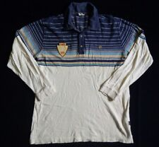 HANG TEN POLO SHIRT Blue Tag T Label Wooden Button High Surf Area San Diego 1979