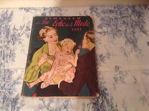 VINTAGE FRENCH FASHION MAGAZINE - LE PETIT ECHO DE LA MODE ALMANACH 1951 (2530a)