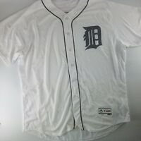 Detroit Tigers MLB Majestic Flex Base Authentic Home Jersey White Mens