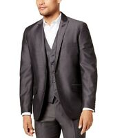 INC Mens Blazer Gray Size XL Royce Slim Fit Two-Button Notched Collar $79 #294