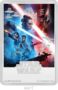 2020 STAR WARS - THE RISE OF SKYWALKER - 1 OZ SILVER POSTER COIN
