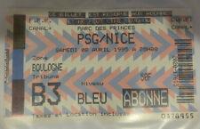 TICKET / BILLET PSG-NICE 08/04/1995 D1 paris saint germain sg