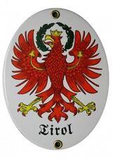 TIROL Emaille Schild Email Gr. 11,5x15cm NEUWARE Fahne Wappen Österreich Austria