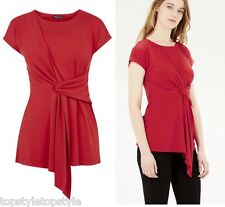 WAREHOUSE RED TWIST FRONT CREPE TOP/BLOUSE Sizes 8-10-12-14-16 RTL £29.00