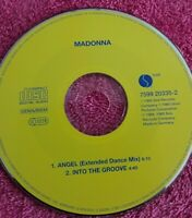MADONNA CD MAXI SINGLE ANGEL EXTENDED DANCE MIX + INTO THE GROOVE SIN PORTADAS