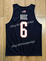 Derrick Rose #6 USA Team Jerseys D.Rose Training American Basketball Shirts