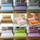 Fitted Sheet Pillow Case Set Soft Warm Single/Queen/King Size Bed Linen 9 Colors