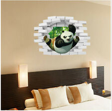 3D Kung Fu Panda  Removable Wall Sticker/Decal Home/Rome Decoration New