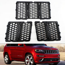 Honeycomb Mesh Matte Black Grill Inserts Fits Jeep Grand Cherokee 2014-2016