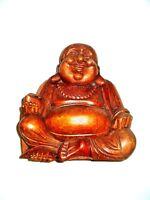 Felice Buddha Holzfigur Holzbuddha Scultura IN Legno Statuetta Gluecksbringer