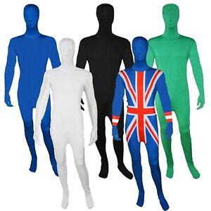 Mens Zentai 2nd Skin Bodysuit Morph Costume Lycra Suit Halloween Fancy Dress