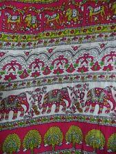 UNITI Casuals Womans Skirt White w/ Multi-color Floral E. Indian Print XL VGC