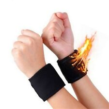 1 Pair Tourmaline Self Heating Wrist&Palm Brace Support Strap Magnetic Relief