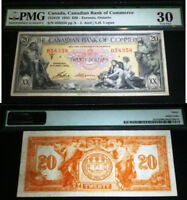 Canadian Bank of Commerce 1935 $20  - PMG 30  - AMAZING LOOKING 85 YEAR OLD NOTE