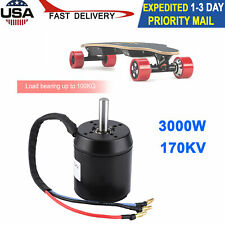 3000W 170Kv Electric Scooter Brushless Hub Motor Waterproof High Power 100Kg Usa