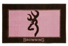 BROWNING BUCKMARK Pink Bath Mat -Rug Bathroom Cabin Logo Wildlife Lodge Deco