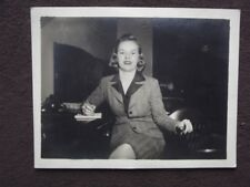 PRETTY SECRETARY TAKING DICTATION Vintage 1940's PHOTO