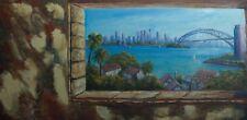 Original oil landscape painting of Sydney Harbour