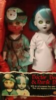 Living Dead Dolls - Doctor Deadwin & Nurse Necro MINT NEVER REMOVED FROM BOX 10""