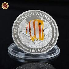 WR 2015 Burundi Sea's Amazing Wildlife Chelmon Rostratus Silver Coin