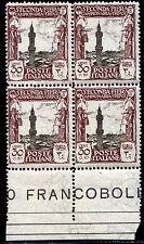 Colonie Italiane Libia 1928 II Fiera di Tripoli n. 72 ** quartina (m1286)