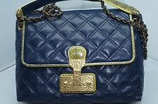 New Marc Jacobs The Large Single Blue Bag Crossbody Shoulder Handbag Leather