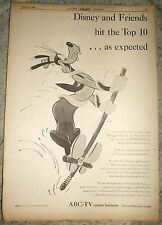 "'55 ABC TV Network Walt Disney's ""DISNEYLAND"" 'Goofy' PROMO AD"