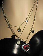 BETSEY JOHNSON PARIS THEMED 3 LAYER NECKLACE