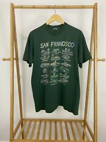 VTG San Francisco Souvenir Tourist Locations Single Stitch FOTL T-Shirt XL