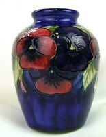 Stunning Moorcroft Pansey Pattern Vase 1930's. Made in England!