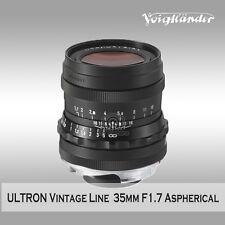 Voigtlander ULTRON 35mm F1.7 Vintage Line  Aspherical Black Version to VM mount