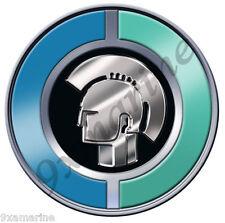 Trojan Boat Custom Round Stickers - 7 inch diameter