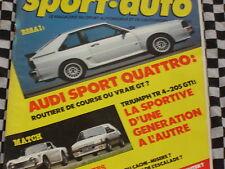 SPORT AUTO 1985 AUDI SPORT QUATTRO / PEUGEOT 205 GTI/ FORMULE 3 & RENAULT  n°283
