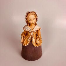 "70's Marty Sculpture Chalkware Girl 7"" Bell lady bell figurine"