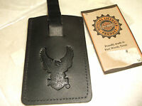 "Harley-Davidson Vintage Black leather credit card wallet USA ""Eagle"""