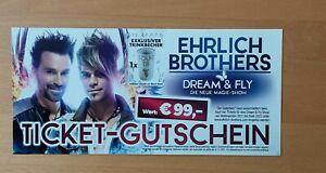 Ehrlich Brothers Ticket-Gutschein ● Wert 99,-€