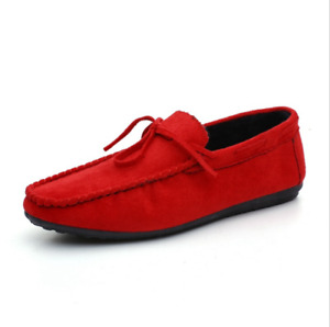 Men Athletic Casual Driving Loafers Suede Leather Moccasins Slip On Penny Shoes