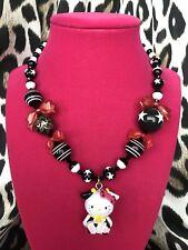 Tarina Tarantino Pink Head Collection Hello Kitty Cow Moo Mascot Star Necklace