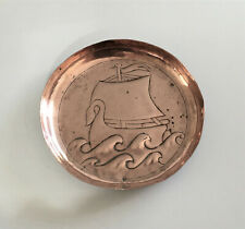 More details for 'keswick school of industrial art' (ksia) small copper dish (viking ship)